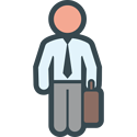 lawyer with suitcase